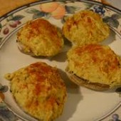 Baked Stuffed Mushrooms with Crab Meat