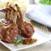 Rack of Lamb in a Garlic Sauce