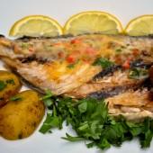 Whole Portuguese Sea Bass Grilled