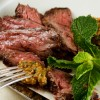 Grilled Skirt Steak in a Hot Roof Tile Surface